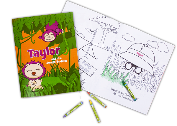 Personalized Coloring Books - www.tagdonline.com